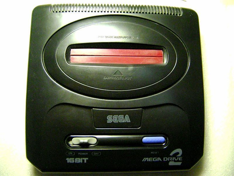 世嘉md2游戏机,早期全集成满外壳大板,n制全屏画面,单机