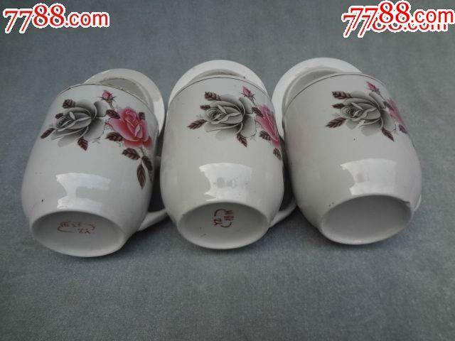 粉彩花卉老瓷盖杯,3套合出_价格183元_第3张_