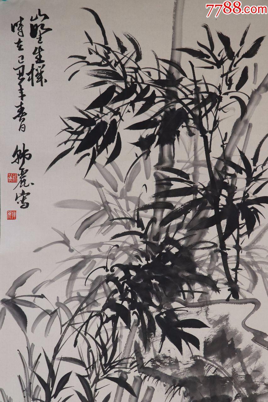 韩丽国家一级美术师,当代实力派竹画家,中国三峡画院一级画师图片