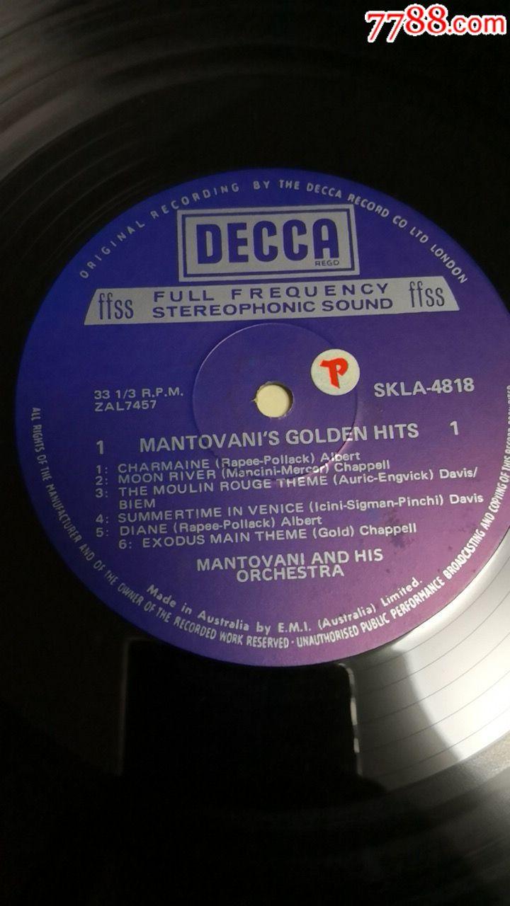 英国迪卡唱片公司12寸黑胶唱片