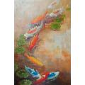 油画年年有余-¥290 元_油画原画_7788网