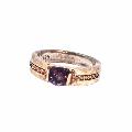 老戒指925银镶嵌纯天然纯紫宝石戒指(包真)完整-¥100 元_其他玉石/宝石_7788网