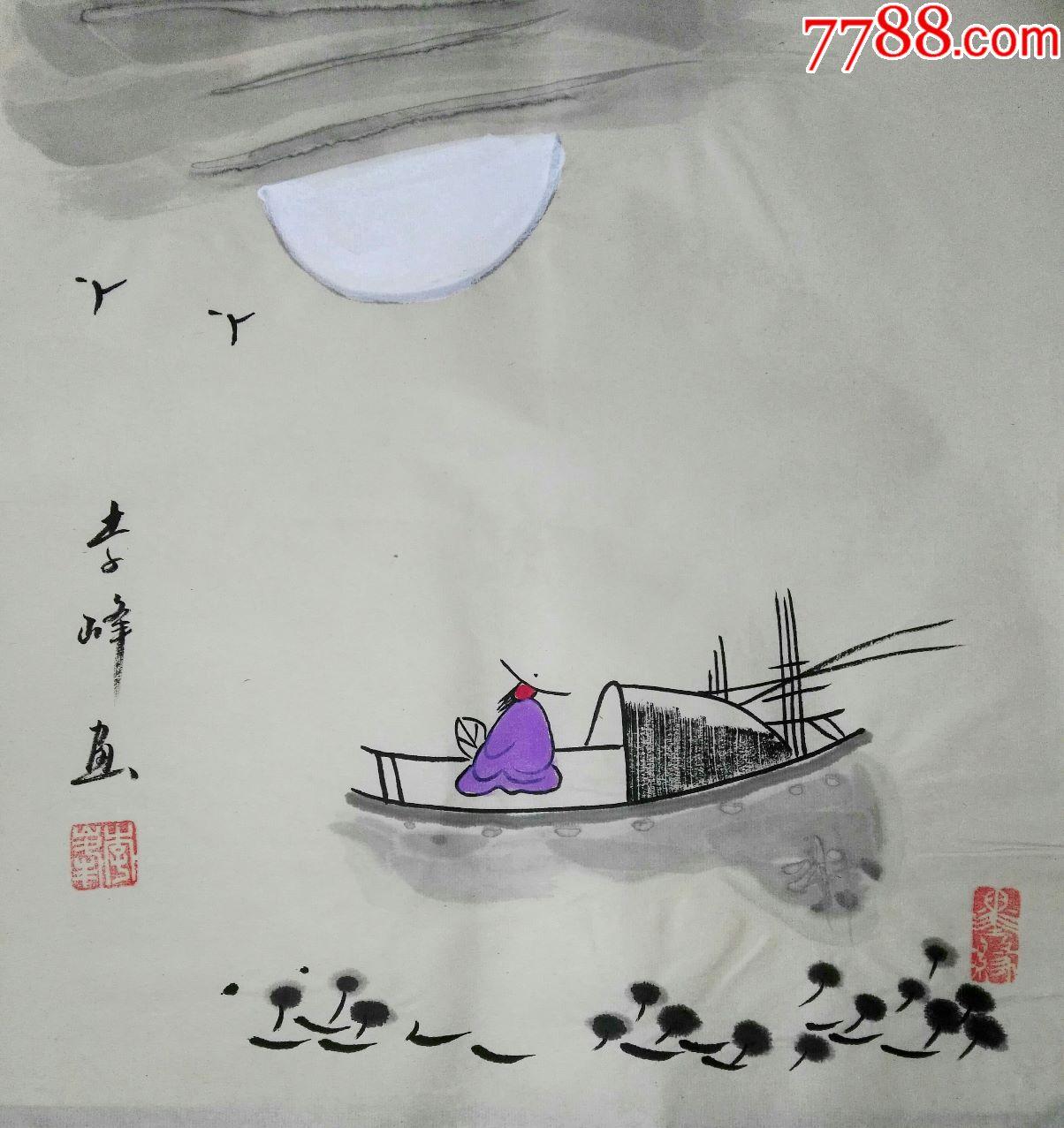李峰老师禅意小品画图片