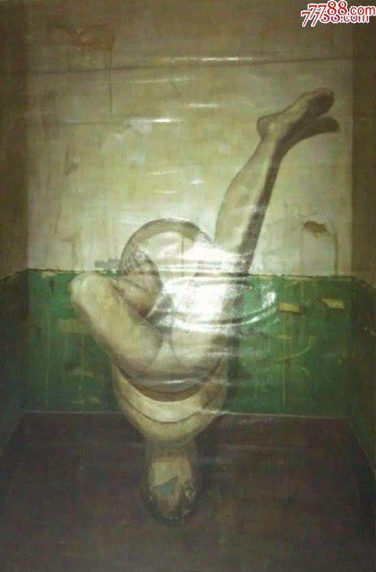 """*少见名家大幅布面人体老油画-""""抽象女人体?#20445;?48×100cm_价格915元_第4张_"""