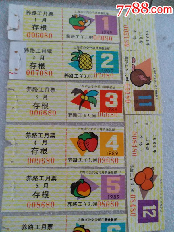 稀有198*年上海养路工月票一套_价格3866元_第2张_