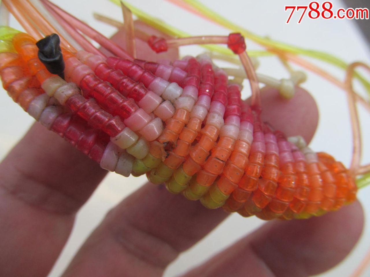 七八十年代手工编织的大虾,瑕疵在图中,请仔细阅