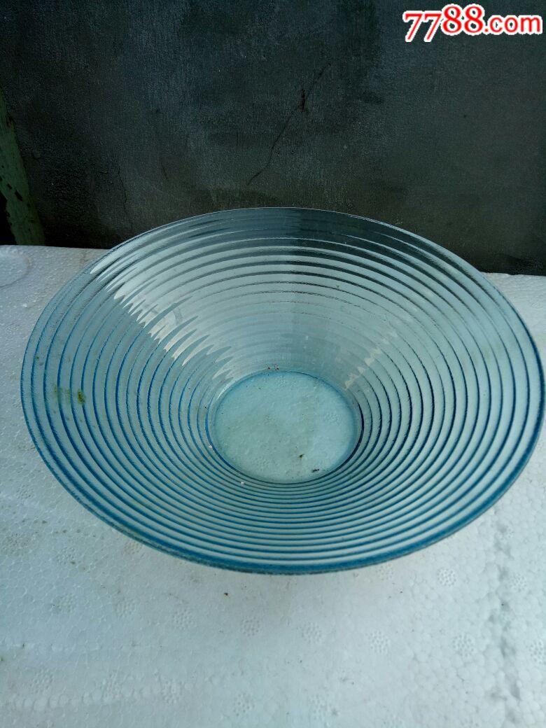 蓝琉璃旋纹斗笠式碗,无磕碰(au18672184)_