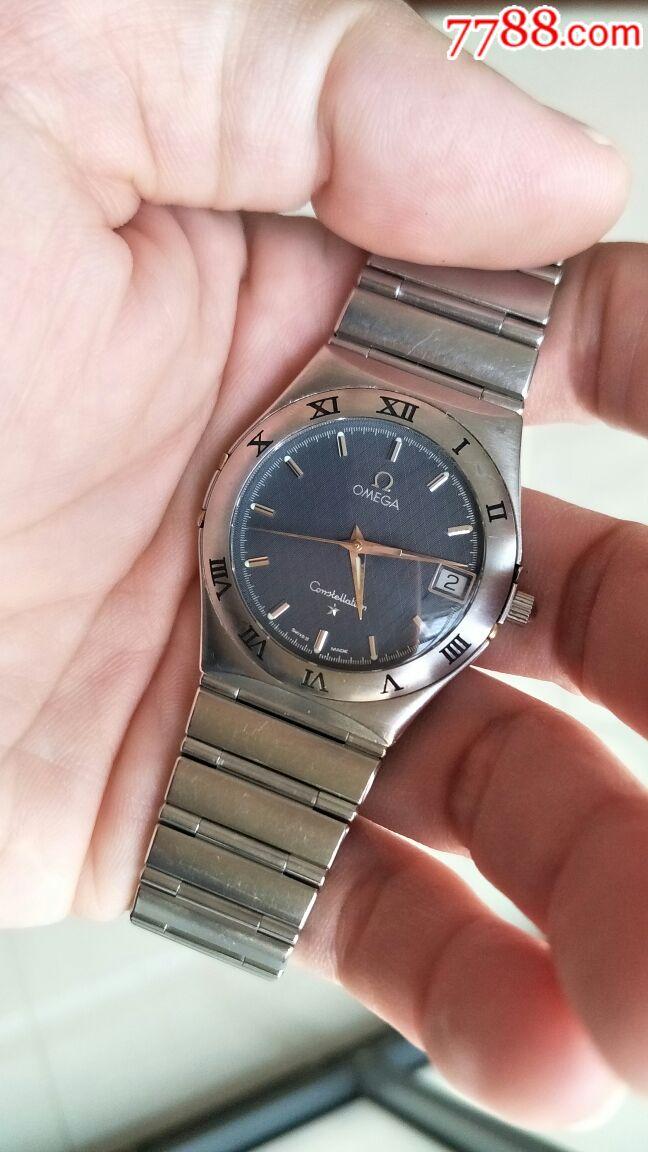 瑞士原装欧米茄星座石英男表瑕疵问题表配件表_手表图片