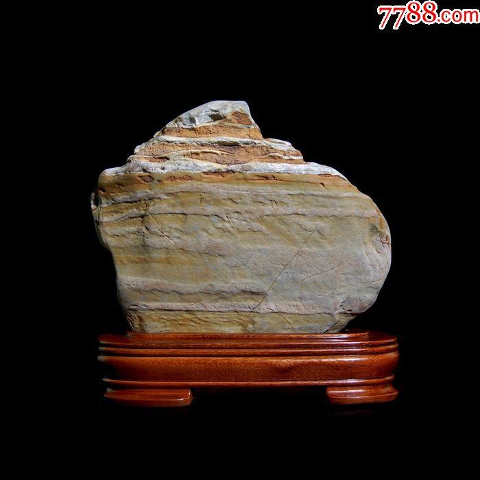 河南艺术中��n��/cyf_天然华安玉水冲籽料九龙壁景观象形图案意韵肌理奇石茶烘收藏摆件
