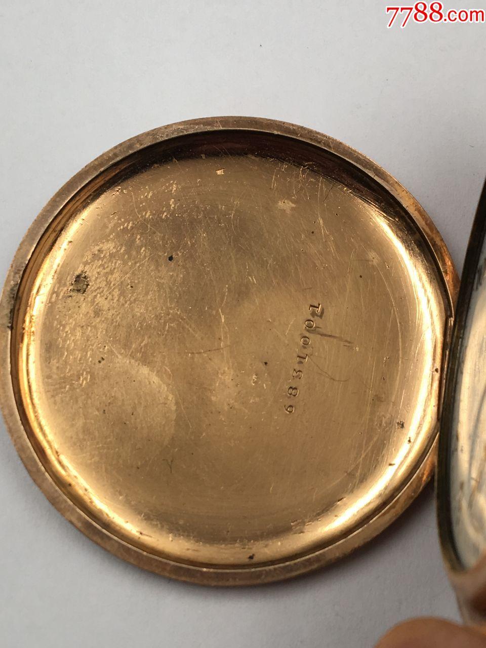 三开门雕花包金埃尔金古董老怀表正常走时直径47.5mm少表镜!_第5张_