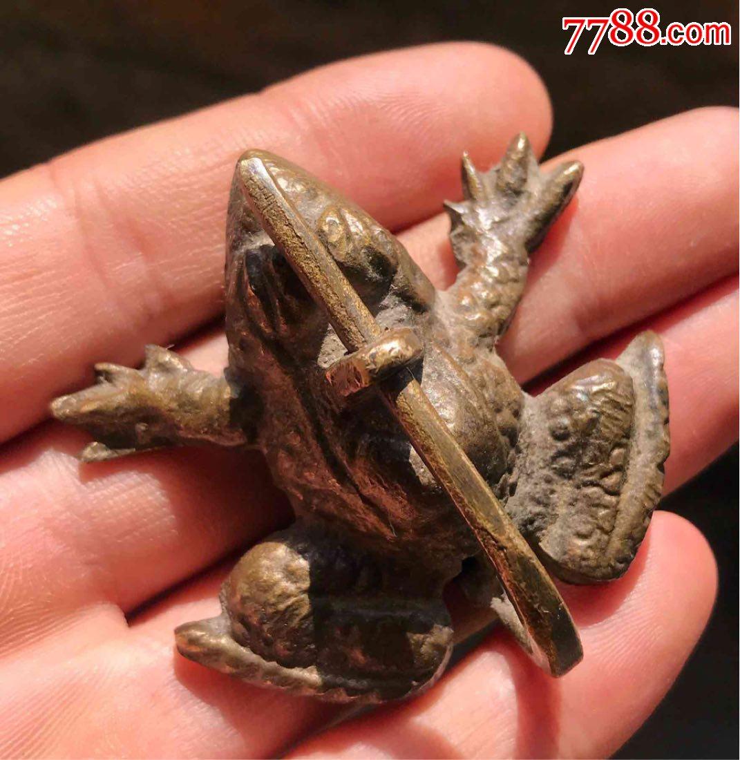 全网唯一的蛙形老铜锁