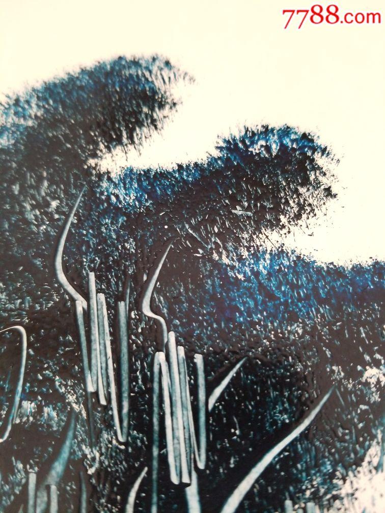 单色风景画油油墨画,立体感强,布景装饰摆设