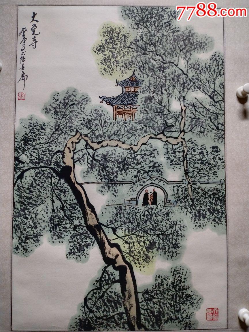 ��登堂款精品山水,尺寸68/44手工立�S(au19704691)_