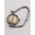 纯银老手表/腕表正常走时直径26.7mm!