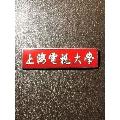 【教育校徽系列】早期上海电视大学分校校徽——铜质嵌珐琅证章!背编号0675