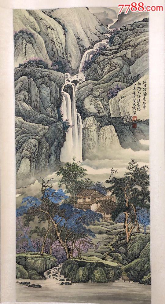 著名画家贺天健精品山水,少见精品,欢迎捡漏(au19880005)_