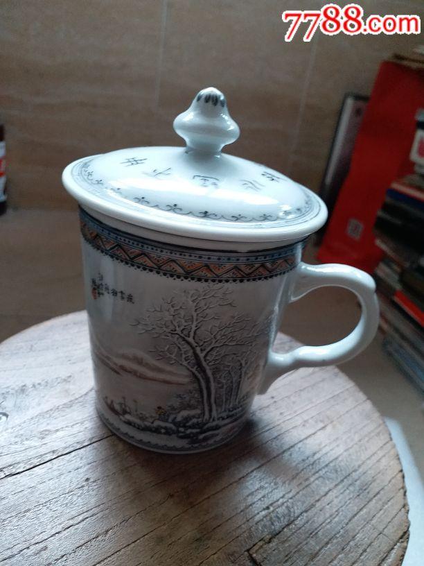 堆白瓷杯,名家汪云山作品夜雪羽舟�o磕碰(au20005488)_