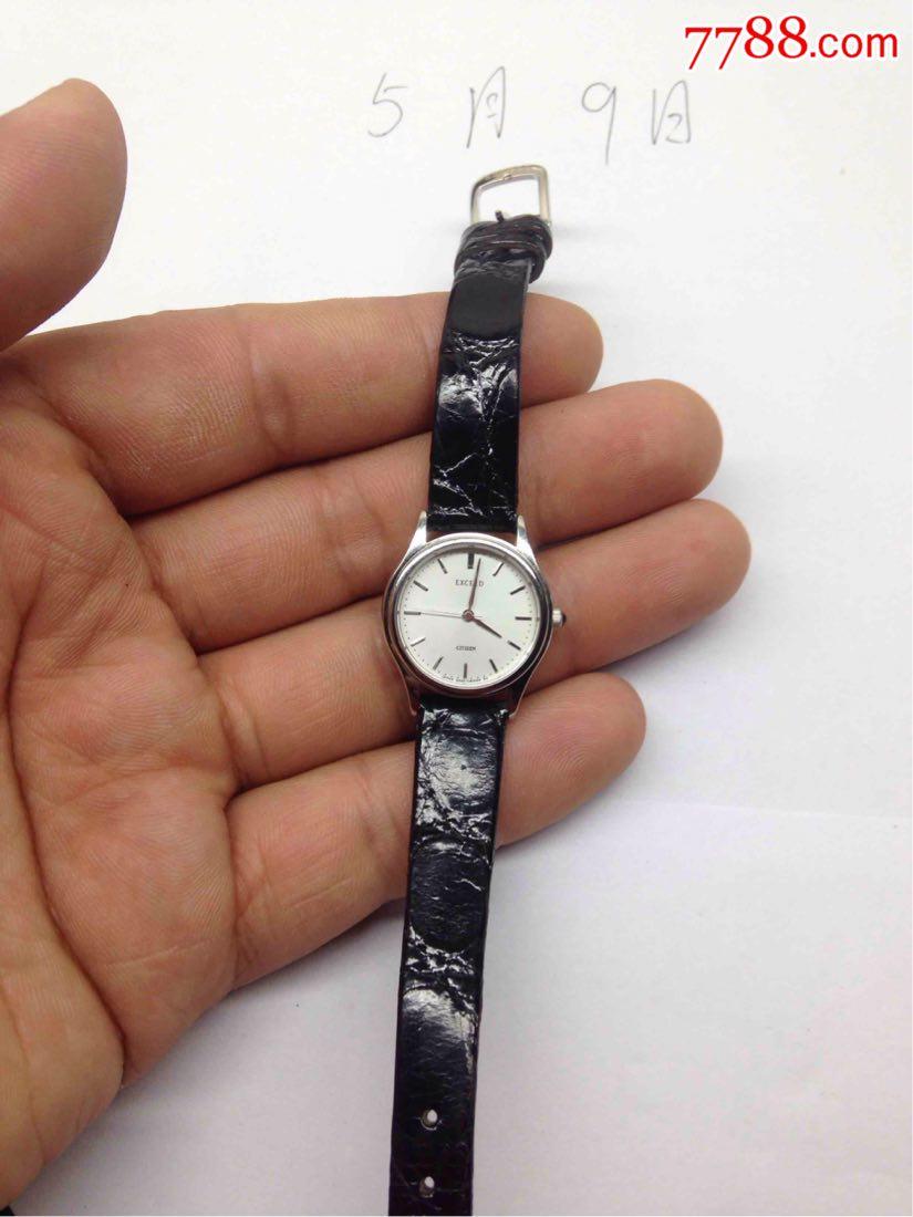 近新美品西铁城421女士黑宝石把手经典石英腕表_价格5元_第1张图片