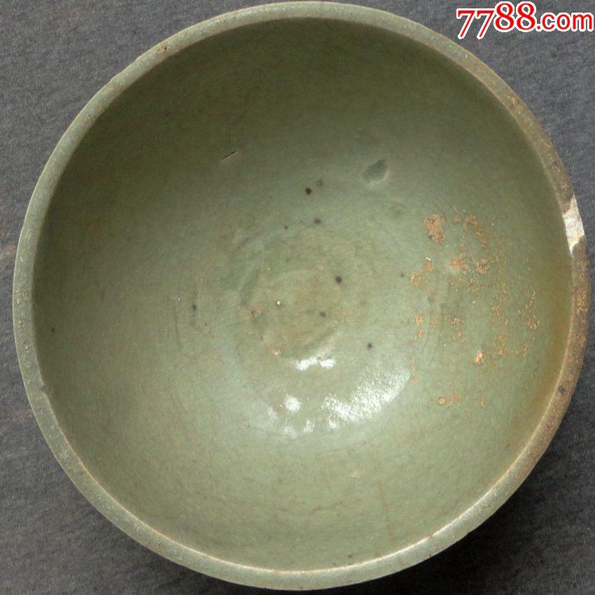 北宋时期龙泉梅子青釉瓷碗图片