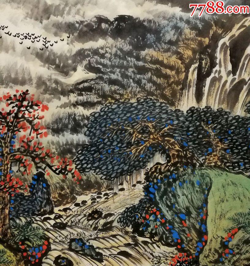 著名国画家,广东省美术家协会副主席【关山月】山水真迹图片