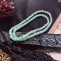 冰种飘花翡翠米珠项链(au20259914)_7788收藏__收藏热线