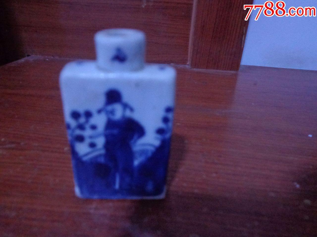 完整清代青花人物�瓶(au20389605)_