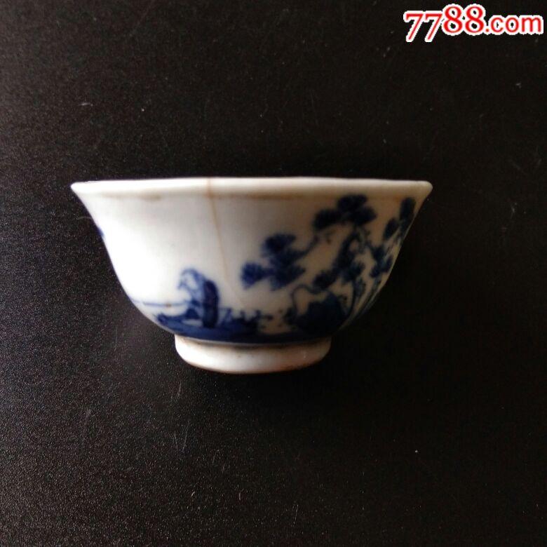 青花人物杯子(au20401170)_
