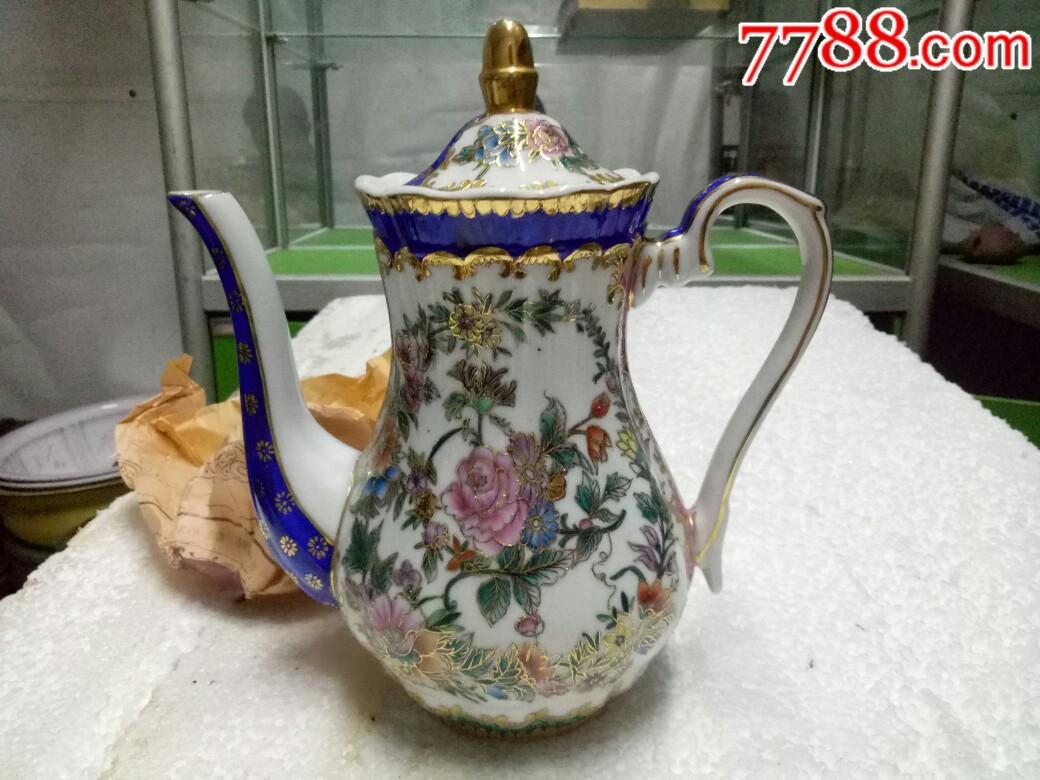 五六十年代外销精品瓷壶,全新未用_价格175元_第1张_