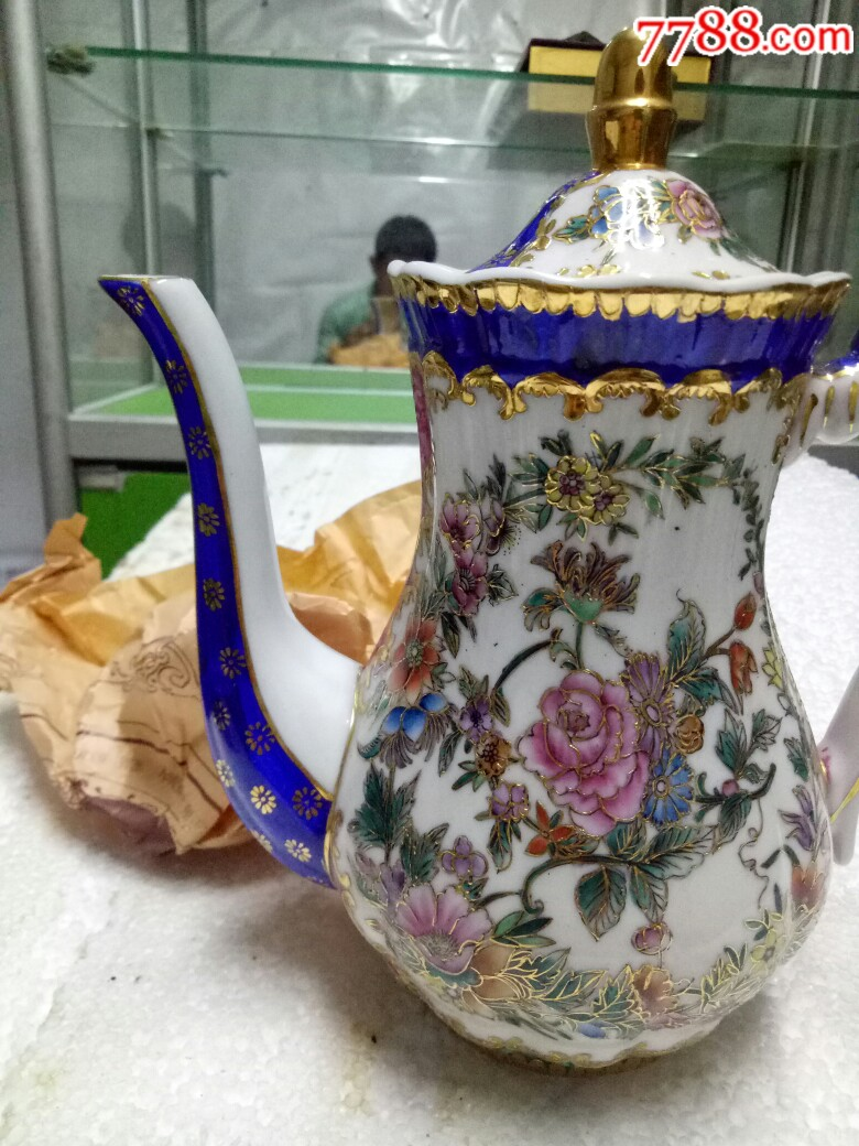五六十年代外销精品瓷壶,全新未用_价格175元_第4张_