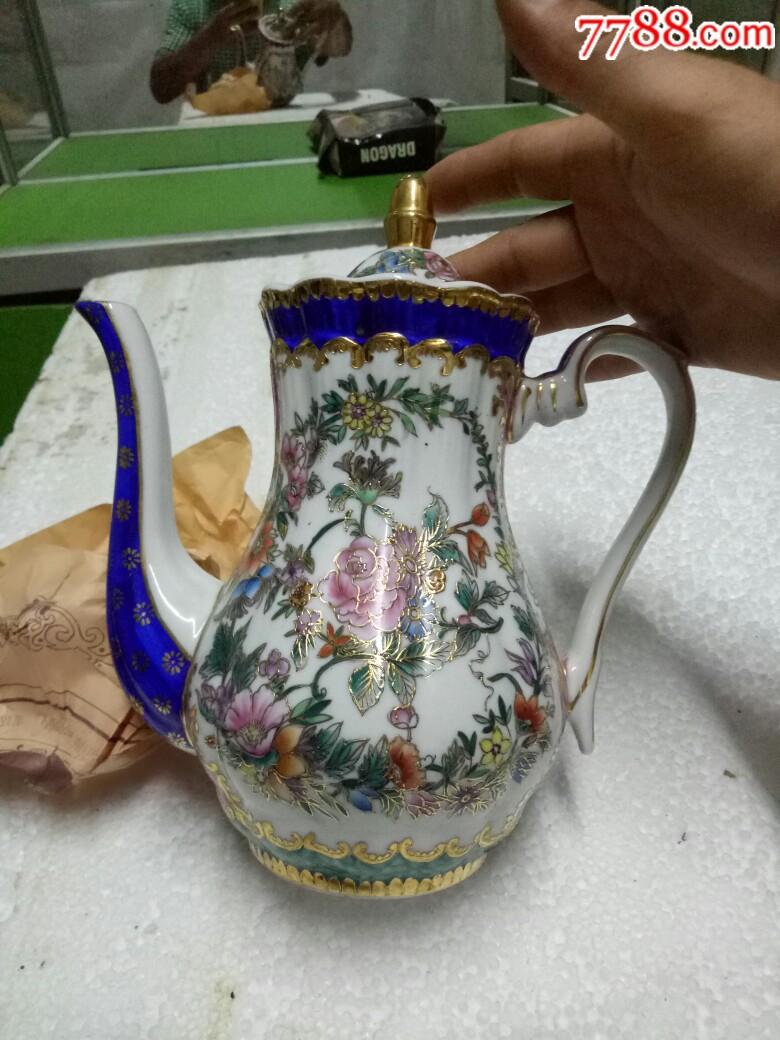 五六十年代外销精品瓷壶,全新未用_价格175元_第5张_