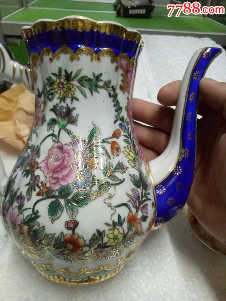 五六十年代外销精品瓷壶,全新未用_价格175元_第20张_
