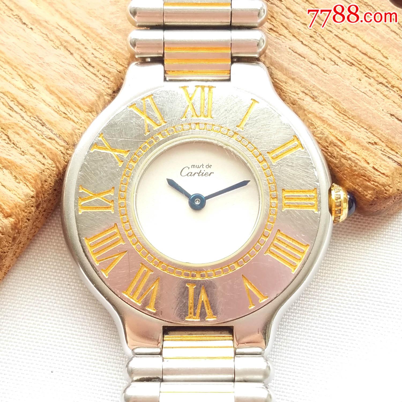 【18K��金�g金】世界著名奢侈名表-Cartier卡地��-21世�o系列-石英女表(au20769276)_