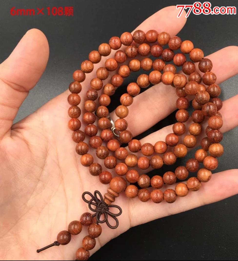缅甸花梨木0.6*108项链全长64.8厘米