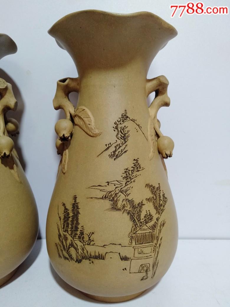 辛酉年1981年紫砂花瓶一对(品好)_价格810元_第2张_