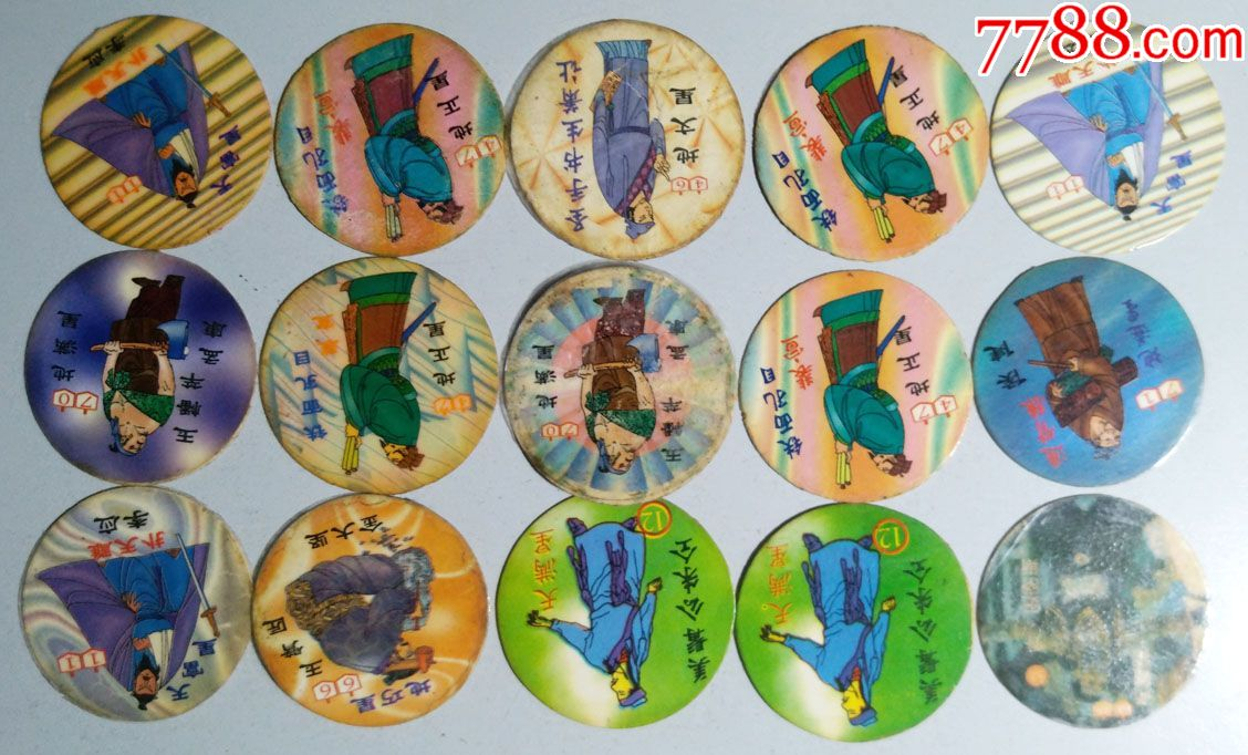 象棋-古代名著漫画食品圆卡一组百余枚_价格7566元_第16张_