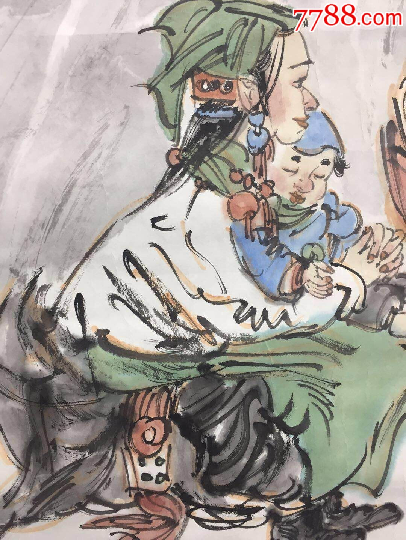 阳光高地人物_人物国画原作_润玉山房画廊【7788收藏图片