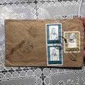 宁波邱隘邮戳62年贴混票邮票3张杜甫诞生纪93.2-2是两联8分本店其它信封在拍