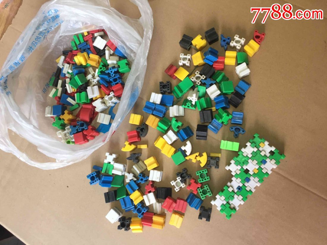 老塑料拼�b玩具一兜合拍(au20884929)_
