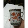 五彩双龙戏珠图茶杯,无磕碰