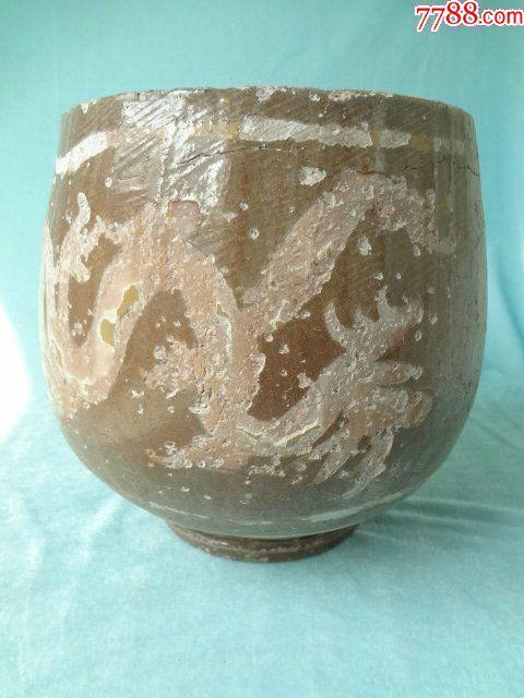 龙凤呈祥老瓷罐,非常有特色的一只老瓷器,龙凤纹饰很有看点,包老_价格308元_第2张_