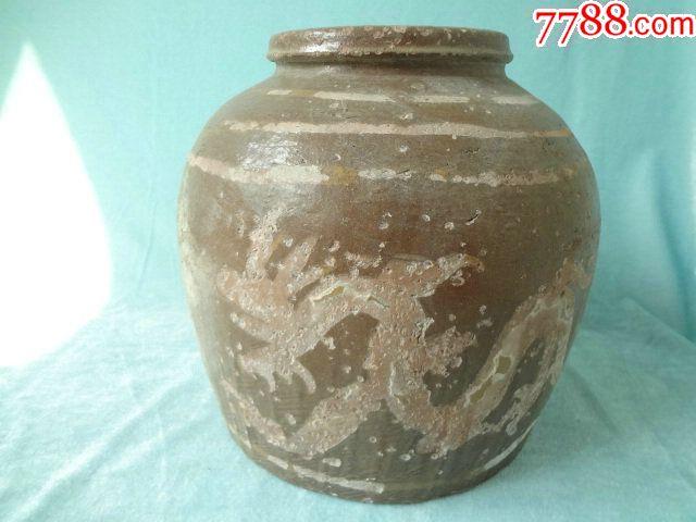 龙凤呈祥老瓷罐,非常有特色的一只老瓷器,龙凤纹饰很有看点,包老_价格308元_第6张_