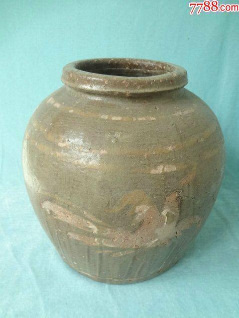 龙凤呈祥老瓷罐,非常有特色的一只老瓷器,龙凤纹饰很有看点,包老_价格308元_第9张_