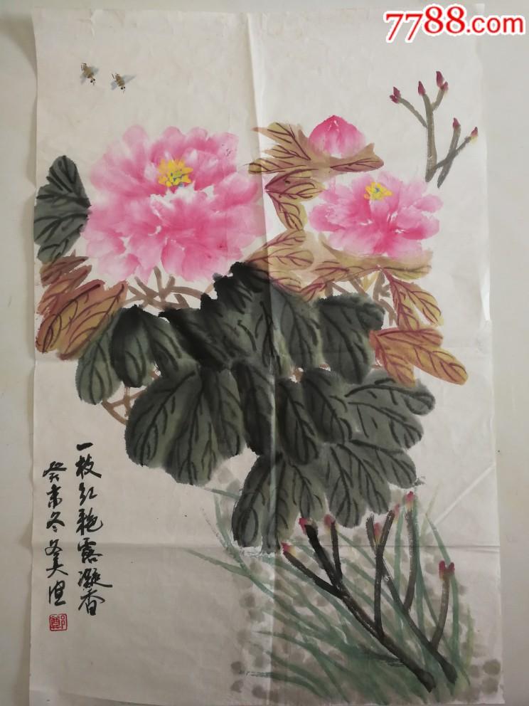 牡丹图软片尺寸44×67(au20951417)_
