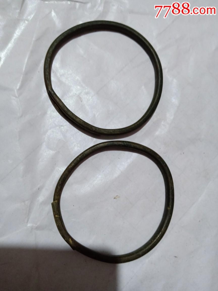 早期铜手镯一对_价格1元_第1张_