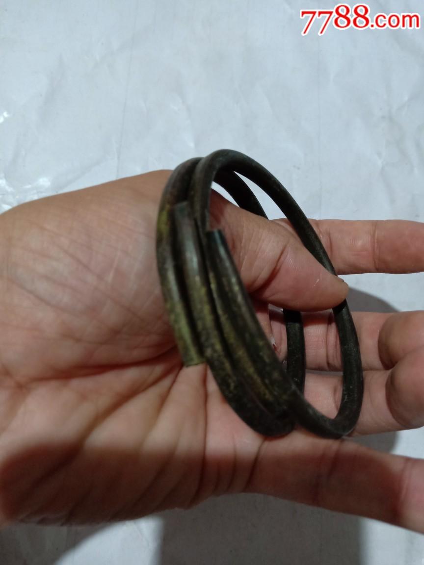 早期铜手镯一对_价格1元_第2张_