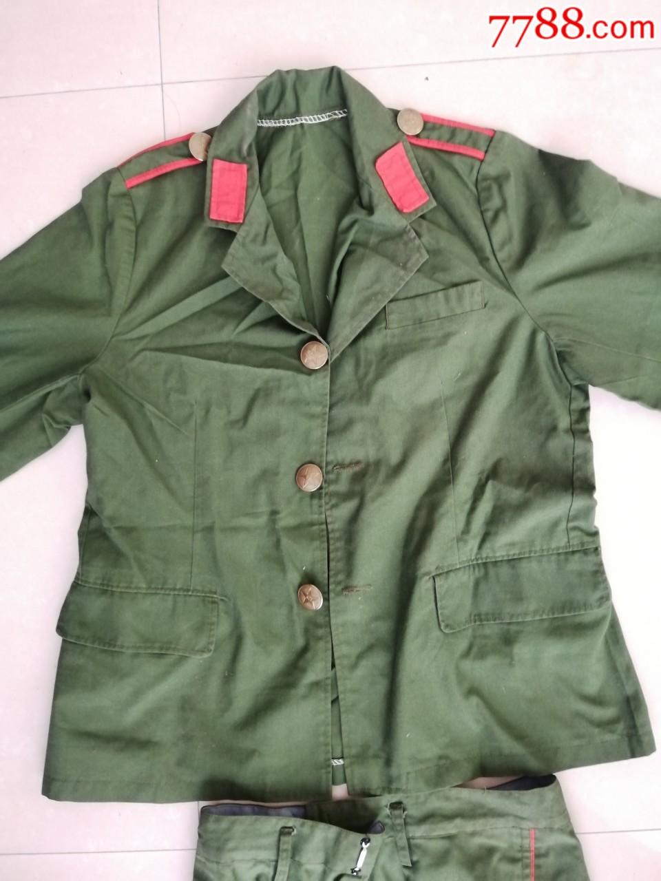 少见的早期女军装,带红领章,金属纽扣,衣服裤子一起出,手慢无(au21245916)_7788收藏__收藏热线