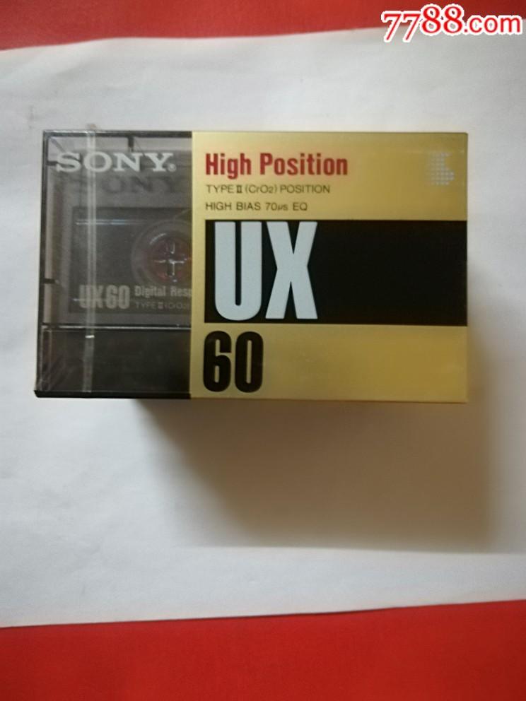 空白索尼磁帶沒拆封其中有一盒外包裝塑料簿紙有破損_價格114元_第1張_