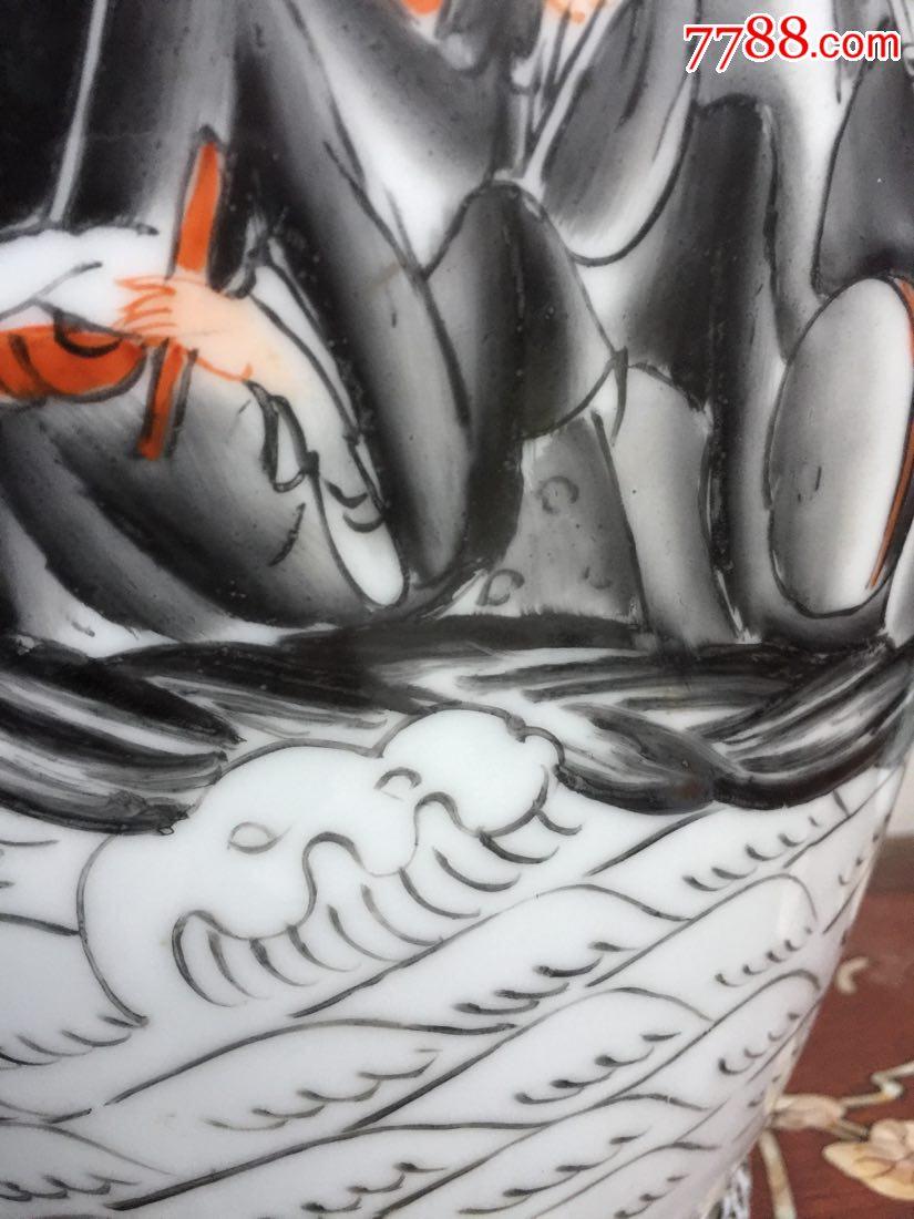 """60厘米高大(八仙過海(人物手繪""""描金""""粉彩花瓶_價格275元_第13張_"""