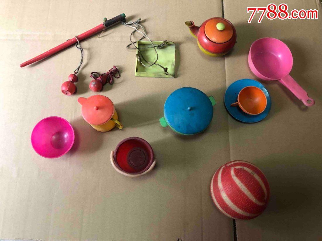 小�r候老塑料�^家家玩具一套合拍(au21339769)_
