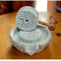 大型天然石雕石磨直径15厘米(zc21345807)_7788收藏__收藏热线